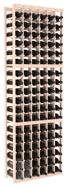 6 Column Standard Cellar Kit in Pine with White Wash Stain + Satin Finish traditional-wine-racks