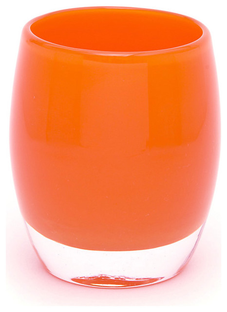 Glassybaby, Tangerine contemporary-candles-and-candle-holders