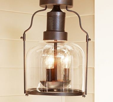 Taylor Semi-Flushmount - Traditional - Bathroom Vanity Lighting - by Pottery Barn
