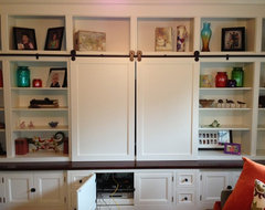 I need advice on using cafe doors for a walk-in closet.