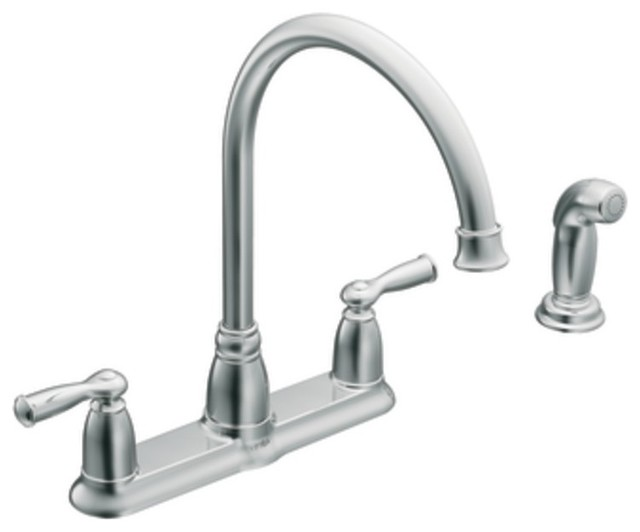 moen 87000 banbury two handle high arc kitchen faucet with