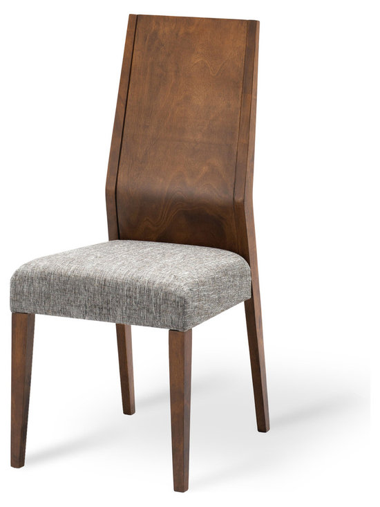 Bryght - Julie Fabric Upholstered Dining Chair - The Julie dining chair exhibits a sleek modern design that adds understated elegance to your dining room.With its balanced clean-line proportions and whole piece slanted back rest, the Julie dining chair lends an air of sophistication to your fine dining needs.
