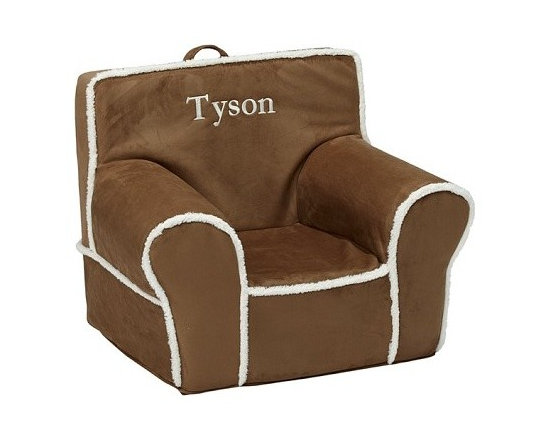 Natural Suede With Sherpa Trim Anywhere Chair -