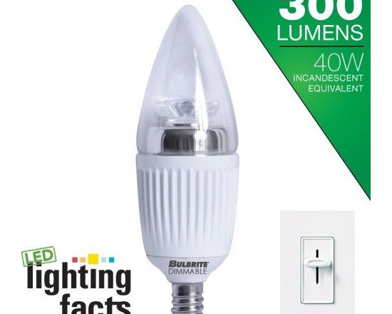 Bulbrite 40W Replacement (5W) Candle B11 LED Bulb (Warm, Dim, Clear, E12) - Bulbrite 40W Replacement (5W) Candle B11 LED Bulb (Warm, Dim, Clear, E12) | http://www.agreensupply.com/bulbrite-40w-replacement-5w-candle-b11-led-bulb-warm-dim-clear-e12/