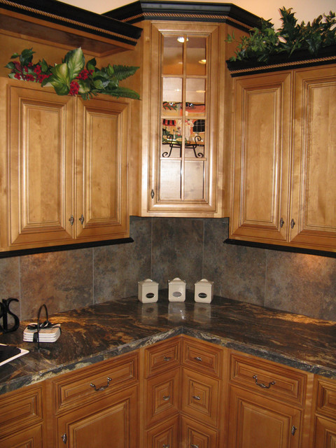 Mocha Kitchen Cabinets Home design - Traditional - Kitchen Cabinetry ...