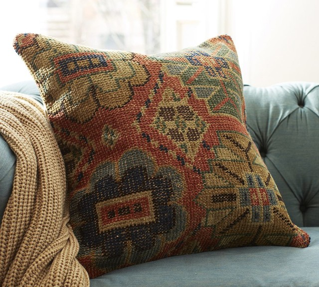 Norton Hand-Knotted Pillow Cover - Traditional - Decorative Pillows - other metro - by Pottery Barn