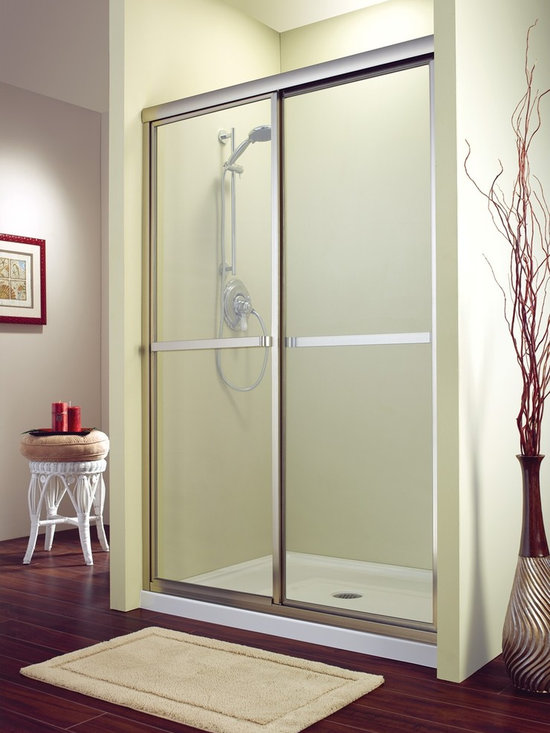 "Fleurco Signature Catalina In-Line 48"" x 71"" Sliding Shower Door FMS1448 - Heavy-duty extrusions"