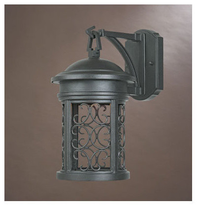 """Designers Fountain 31111-ORB 1 Light 7"""" Wall Lantern from the Dark Sky Barringto traditional-outdoor-wall-lights-and-sconces"""