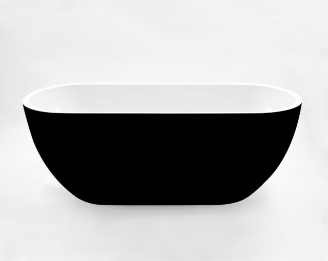 kado lure 1500 petite black freestanding bath