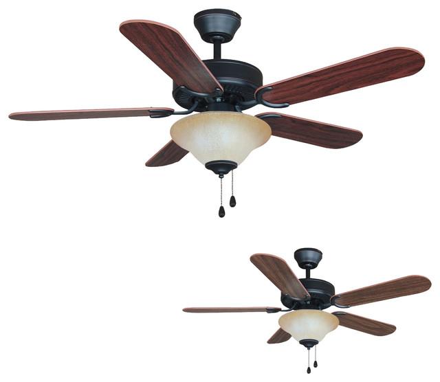 """Oil Rubbed Bronze 42"""" Ceiling Fan w Light Kit"""