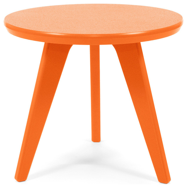 satellite end round 18 table sunset orange contemporary