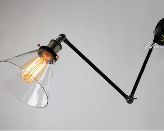 LOFT RH Adjustable copper and Clear Glass Wall Sconce - LOFT RH Adjustable copper and Clear Glass Wall Sconce