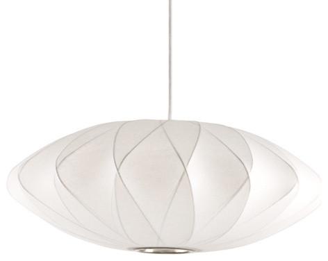 Nelson Bubble Lamps  Saucer Criss Cross Lamp modern-pendant-lighting