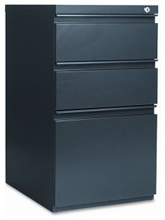 Alera Mobile Pedestal 3 Drawer Vertical Filing Cabinet with Casters and Full-Len - Modern - Home ...