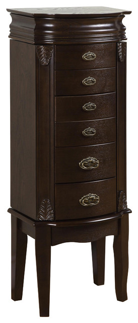 Powell Italian Influenced Transitional Espresso Jewelry Armoire traditional-dressers-chests-and-bedroom-armoires