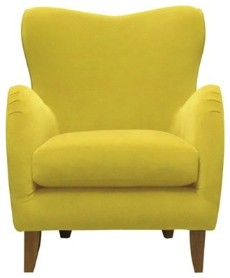 Dylan armchair mellow lemon modern armchairs and accent chairs