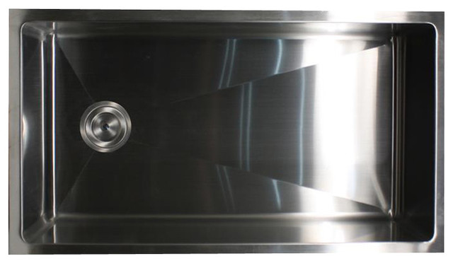 Nantucket Sinks ZR3218-SR Under mount Stainless Steel Kitchen Sink-Small Radius traditional-kitchen-sinks