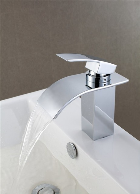 NEW Contemporary Rainfall Basin Faucet Chrome Finish MS02