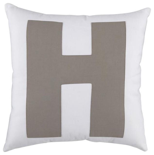 ABC Throw Pillows,  Letter H modern-decorative-pillows