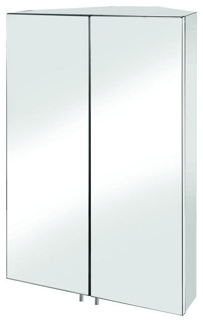 Croydex WC766105 Avisio Double Door Corner Medicine Cabinet in Stainless Steel - Traditional ...