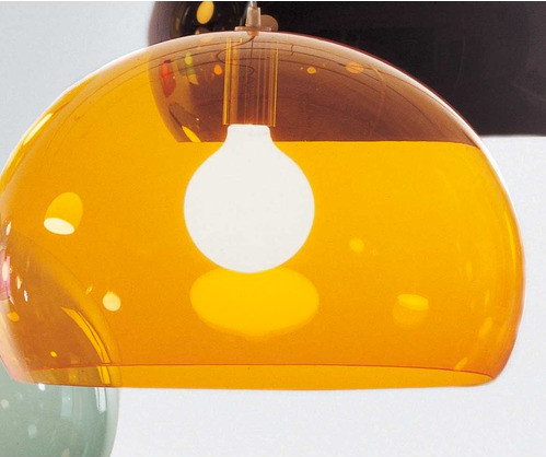 Kartell FL/Y Suspension Lamp, Orange - Modern - Pendant Lighting - by ...