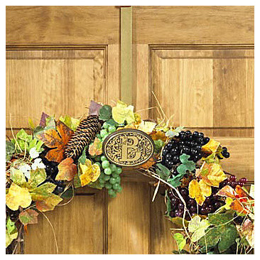 Monogrammed Wreath Hanger contemporary-outdoor-holiday-decorations
