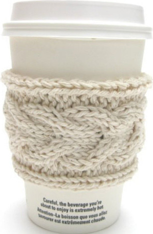 Knitted Coffee Sleeves eclectic-cups-and-glassware