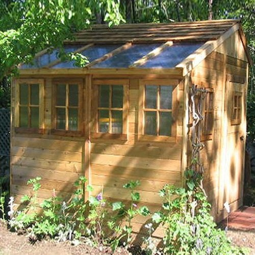Outdoor living today ssgs88 sunshed 8 x 8 ft garden shed for Traditional garden buildings