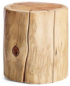 Natural Tree Stump Side Table rustic-side-tables-and-end-tables
