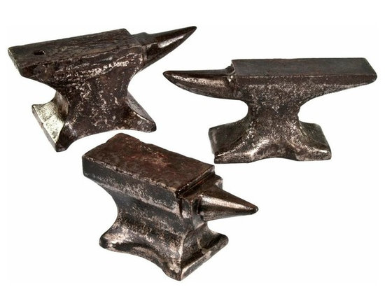 Cast Iron Jeweler Anvils - Set of three rare antique cast iron jeweler anvils from the mid to late 1800's. Nice patina and signs of use.