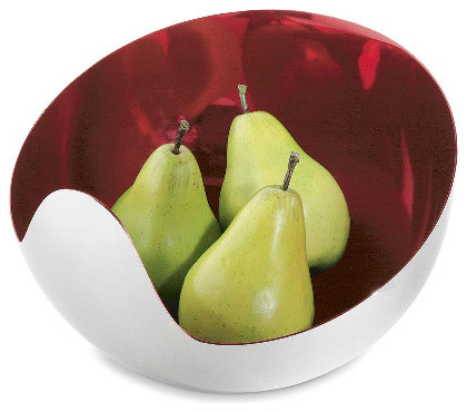 mia bowl - red - a modern, contemporary bowl from chiasso contemporary-serving-and-salad-bowls
