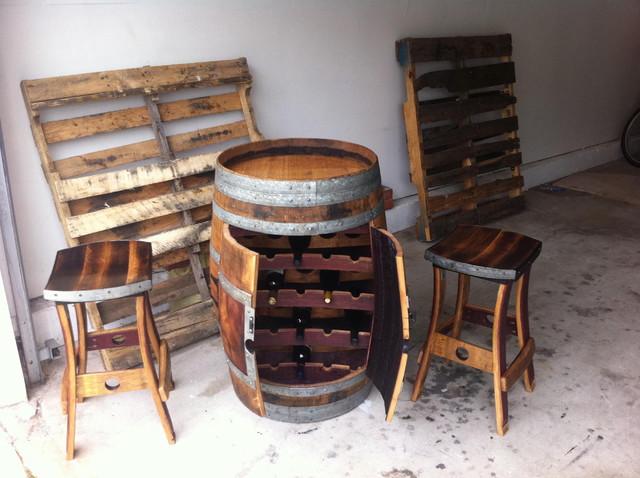 Wine Barrel Wine Rack - Traditional - Furniture - orange county - by Fallen Oak