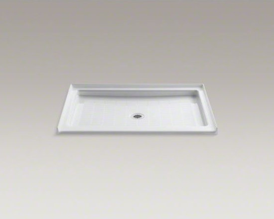 "KOHLER - KOHLER Purist(R) 48"" x 36"" single threshold center drain shower base - As a part of the Purist collection, this shower base captures the language, feeling, and art of water with its simple design lines. This 48-inch rectangular base features a single threshold and a distinctively patterned slip-resistant floor for added safe"