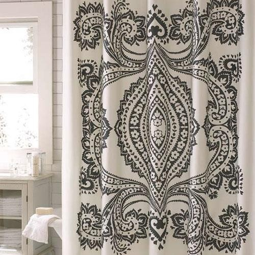 Amy Butler Bucharest Shower Curtain eclectic shower curtains
