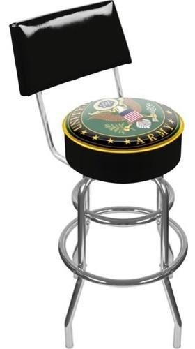 "41.75"" U.S. Army Symbol Padded Swivel Bar Stool modern-bar-stools-and-counter-stools"