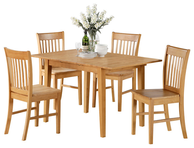 7 pc dinette set for small spaces dining tables and 6 dining table chairs traditional - Small space dinette sets set ...