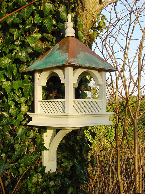 Large Bempton wall mounted bird feeder table - Victorian ...
