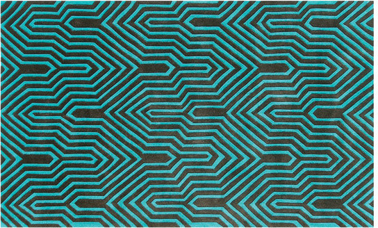 Surge Graphic Azure Rug contemporary rugs