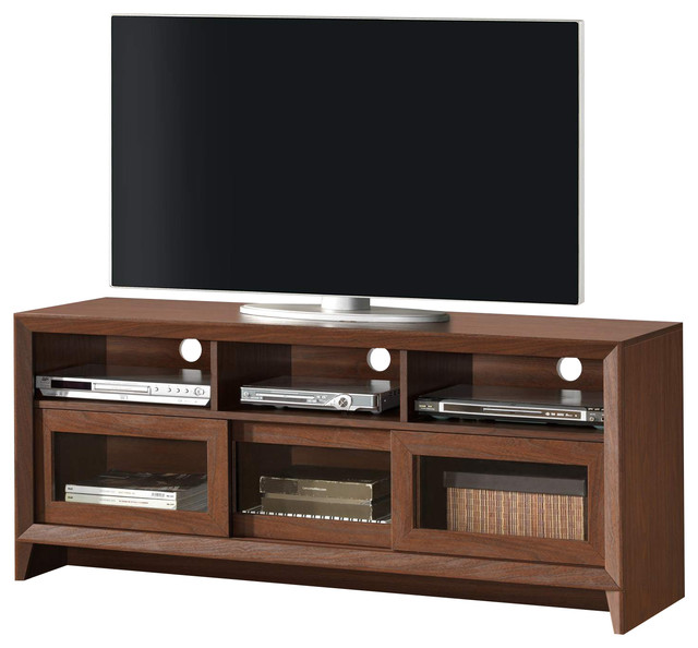 Techni Mobili Contemporary 65 Inch TV Stand in Hickory - Transitional - Entertainment Centers ...