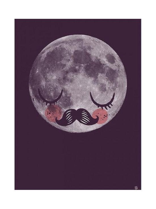 Martin Krusche 'Für Neil' Moon Poster -