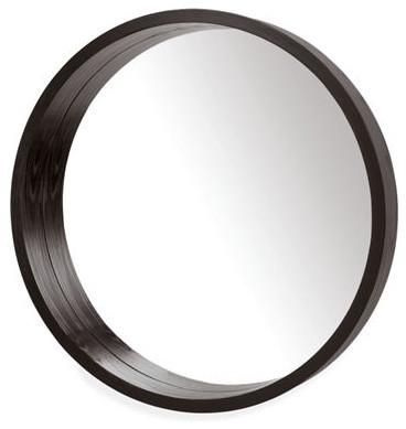 Loft round mirror modern wall mirrors by room amp board