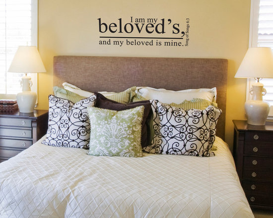 Wall Lettering Designs - Wall lettering. Available in 3 sizes and 44 colors. Looks hand-painted. Perfect for interior designers and home-owners.