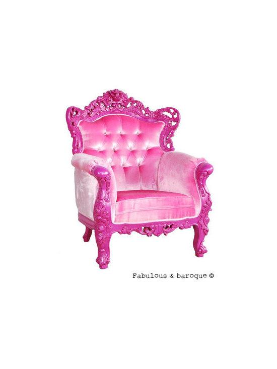Belle de Fleur Chair - Fuchsia - Fabulous & Baroque