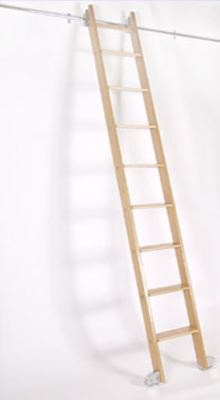Rolling Ladder traditional-ladders-and-step-stools