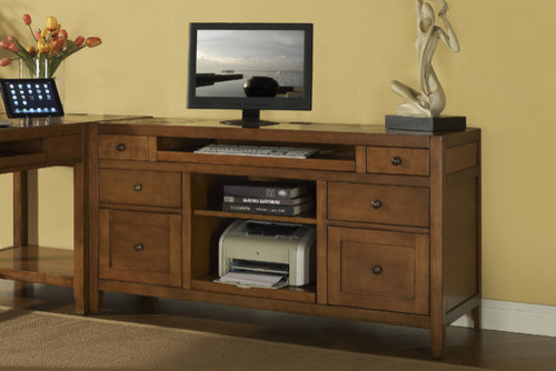 Companion Credenza Desk with Printer Pull Out - Modern - Home Office ...