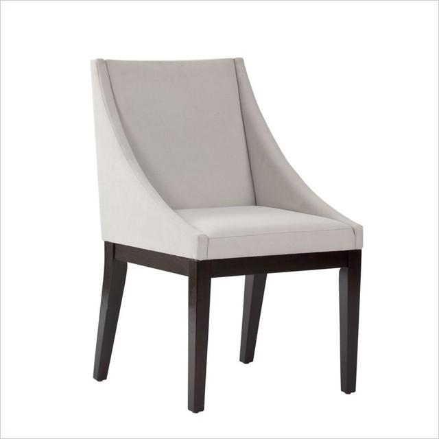 Standard Furniture Karma Dining Side Chair in Gray Velvet