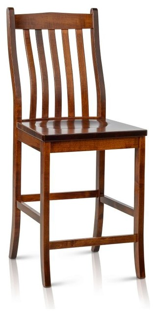 Counter Height Unfinished Chairs : Solid Maple Wood Counter Height/Bar Stool - Transitional - Dining ...