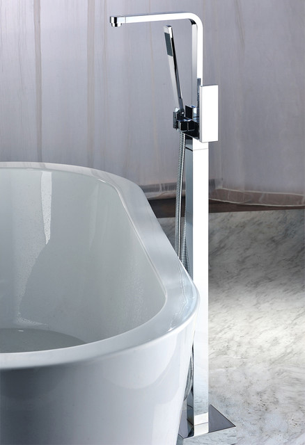 Dree Floor Mounted Clawfoot Tub Filler Shower Modern Bathroom Faucets And