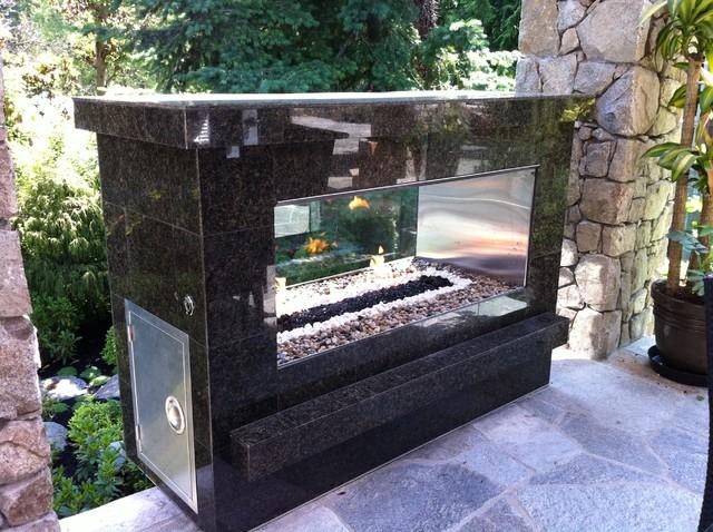 See-Thru Fireplace modern-fire-pits