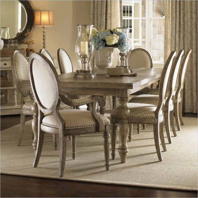 Henry Link Savannah Dining Table in Driftwood Finish traditional-dining-tables